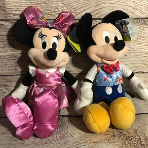 Disney Mickey & Minnie Mouse Spring Figures NWT